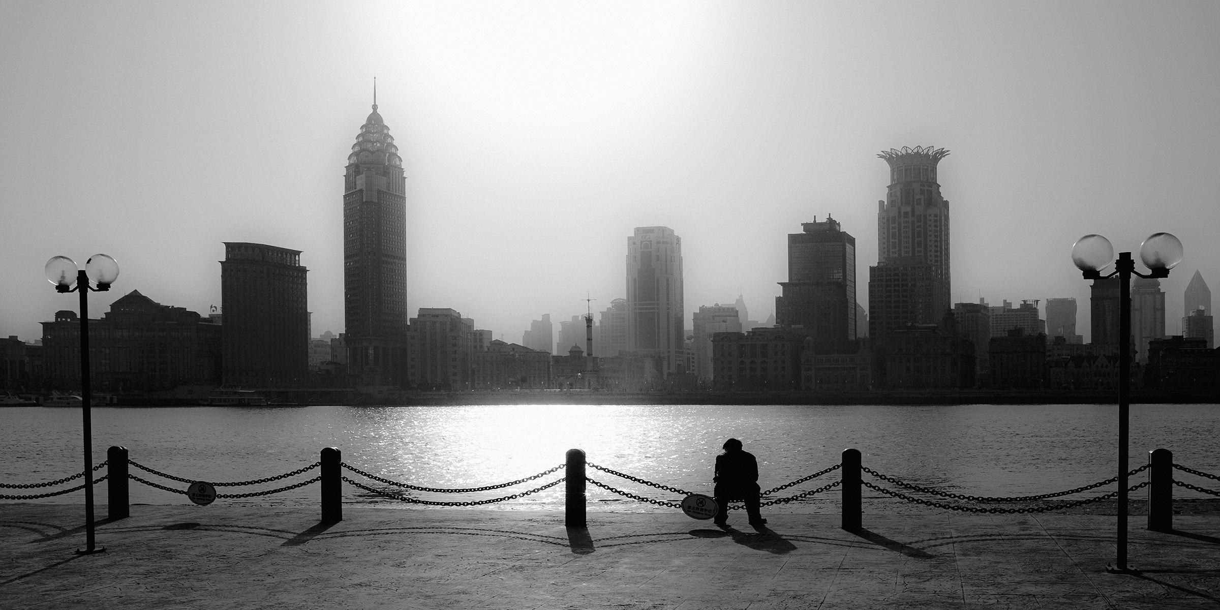 Stadsgezicht van Shanghai - Bill de Kimpe
